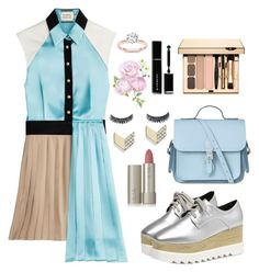 """""""Untitled #57"""" by jasmeenjk ❤ liked on Polyvore featuring FOSSIL, FAUSTO PUGLISI, The Cambridge Satchel Company, Ilia and Givenchy"""