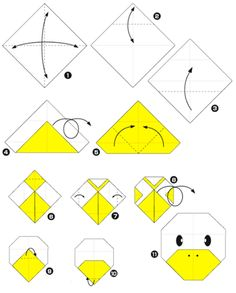 1000 images about origami papirofl xia on pinterest origami diy origami and easy origami - Origami facile grenouille ...
