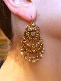 Vintage Mexican Gold and Pearl Earrings  Image 9 of 2