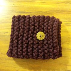 neck warmer with one Coconut Shell button, Plum. Coconut Shell, Neck Warmer, Knits, Hand Knitting, Plum, Shells, Beanie, Button, Conch Shells
