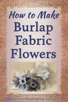 How to Make Burlap Flowers, You are in the right place about DIY Fabric Flowers Here we offer you the most beautiful pictures about the DIY Fabric Flowers no sew you are looking for. Burlap Projects, Burlap Crafts, Diy Projects To Try, Fabric Crafts, Paper Crafts, Wreath Burlap, Burlap Flowers, Diy Flowers, Paper Flowers