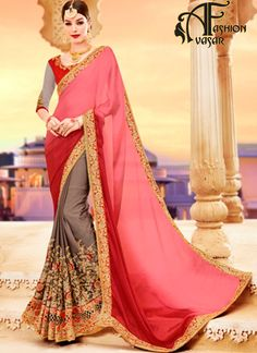 georgette sarees online india. georgette sarees party wear. Pain Pure designer Party Wear georgette sarees with price. buy indian georgette sarees low price