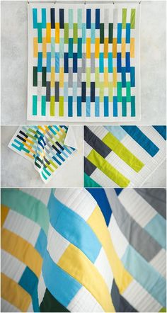 Matchsticks Lakeshore Quilt Kit | Craftsy. Modern solid quilt. Includes solid fabrics and modern quilt pattern in kit.