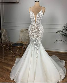 dresses mermaid Only bridals Gorgeous Beaded Lace Mermaid Wedding Dress. dresses mermaid Only bridals Gorgeous Beaded Lace Mermaid Wedding Dress 2020 Sexy V Neck Backless Ruffles Train Wedding Gowns dresses 2020 Top Wedding Dresses, Lace Mermaid Wedding Dress, Wedding Dress Trends, Wedding Dress Sleeves, Mermaid Dresses, Bridal Dresses, Gown Wedding, Wedding Ideas, Lace Wedding