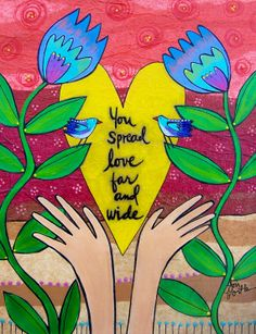 """This is from my Hundred Thanks Yous project. It reads, """"You spread love far and wide."""" Read more about my project here: http://loriportka.com/a-hundred-thank-yous/"""