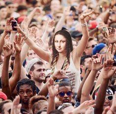 What If Famous Faces from Iconic Paintings Invaded Pop Culture Pop Culture Art History Composites Dan Cretu Cultura Pop, Lisa Gherardini, La Madone, Mona Lisa Parody, Mona Lisa Smile, Pop Culture Art, Photocollage, Arte Pop, Art Memes