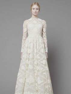 Dresses, White Long Sleeve Lace Wedding Dress: Valentino Pre-Fall 2013 Ready to Wear