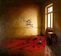 Interior with red cloth by Tassos Chonias
