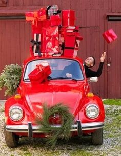 Christmas in a Volkswagen. How Baylor Rae's car should be this December.