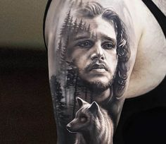 John Snow tattoo by Arlo Tattoos