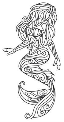 mermaids | Urban Threads: Unique and Awesome Embroidery Designs #StainedGlassMermaid