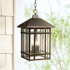 J du J Sierra Craftsman Outdoor Hanging Light