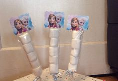 Frozen Disney Princesses Elsa, Anna Birthday Party Marshmallow Favors
