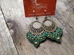 Micro macrame earrings custom order boho jewelry bohemian macrame jewelry micromacrame on Etsy, $26.01 AUD