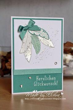 Elviras Stempelzimmer: Geburtstagskarte in Lagunenblau