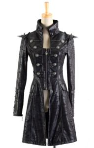 mad hatter or male rapper? not sure if a guy can pull this one off   $80 Gothic black Coat PUNK RAVE Y-366 double breasted