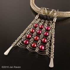 Viking Knit Pendant - Flat! | No tuturial JewelryLessons.com