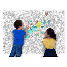Buy OMY Design & Play London Giant Colouring Poster Online at johnlewis.com