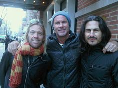 Chad Smith (RHCP) with Foo Fighters Drummer Taylor Hawkins and Rage Against The Machine Drummer Brad Wilk. Music Is Life, My Music, Cruel Beauty, Taylor Hawkins, John Bonham, School Of Rock, Rage Against The Machine, Soundtrack To My Life, Artists