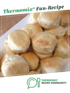 Recipe Buttermilk Scones by mixing inspirations - consultant, learn to make this recipe easily in your kitchen machine and discover other Thermomix recipes in Breads & rolls. Dough Recipe, Thermomix Desserts, Dessert Recipes, Buttermilk Scone Recipe, Recipe Community, Food N, Tray Bakes, Scones, Desert Recipes
