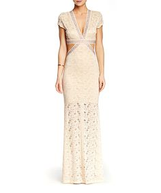 Sentimental NY Ivory Cutout Maxi Dress