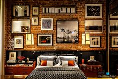 Loft Apartments with Brick Wallspace for art  | Multifunctional Brazilian Loft Apartment in the Style of 70′S ...