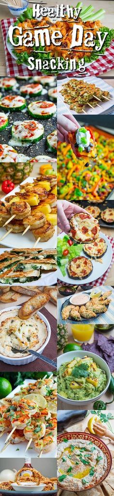 Healthy Game Day Snacking - there are lots of recipes here and they sound really good (and for the most part, pretty healthy)