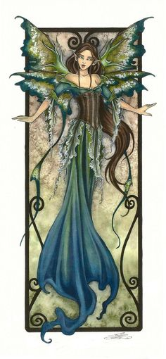 Amy Brown Print SIGNED Limited Edition Fairy Faery Fae 2 LE/150 5.5x11 Fantasy