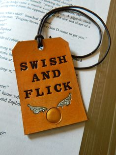 Leather Luggage Tag  Harry Potter  Swish by CoastalMaineCreation on etsy