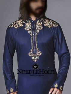 Formal wear duke blue kurta shalwar outfit for men perfect for marriage and reception event Kurta Pajama Men, Kurta Men, Indian Formal Dresses, Shalwar Kameez Pakistani, Mens Indian Wear, Boys Kurta Design, Gents Kurta, Mens Kurta Designs, Mens Designer Shirts