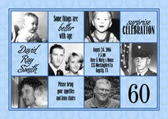 Through the Ages Custom photo birthday party invitation for an adult - digital file. $10.00, via Etsy.