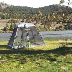 Would you camp with a tent like this? Rainbow Trout, Travel Gifts, Go Camping, Acre, Gazebo, Tent, Christmas Gifts, Outdoor Structures, Holiday Gifts