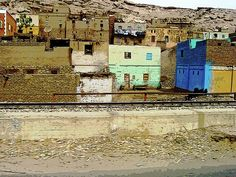 Egyptian Village - Aswan Egypt #art #photography #egypt #aswan #village #egyptian #nubian #homes #desert #artforsale