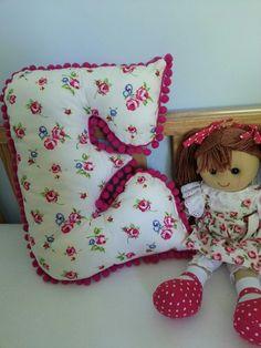 E shaped cushion for Esme's room