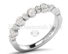 0.50carat Bezel Set Round Brilliant Cut Diamond Ring @ https://finediamondsrus.com/index.php?route=product/product&product_id=695 #DiamondRing #DiamondEternityRing #HalfEternityRing #WeddingRing #Ring #FineJewellery #FineDiamond #FineDiamondsRus #HattonGarden #London