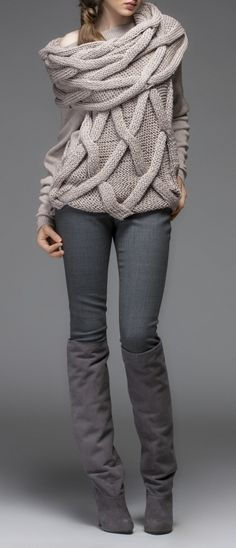 Great sweater! Winter greys