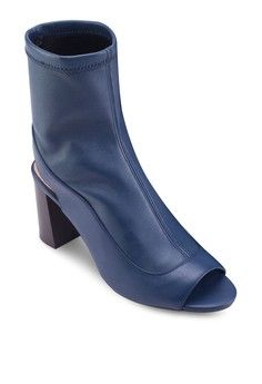 MELON Stretch Peep-Toe Sock Boots from TOPSHOP in blue and navy_1