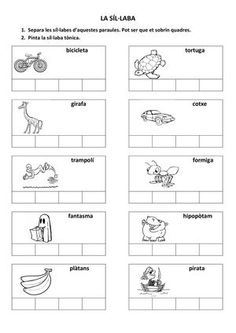 Title: LA SÍL·LABA, Author: Length: 3 pages, Published: Learning Numbers, Classroom, Teaching, School, Mary, Literacy Activities, Alphabet Letters, Preschool Printables, Phonological Awareness