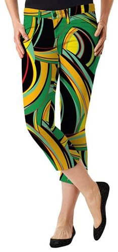 Womens Golfing Bent Grass Capris by Loudmouth Golf.  Buy it @ ReadyGolf.com