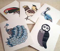 Birds Collection  Quantity of 5 cards  A by AlexandraWaterman