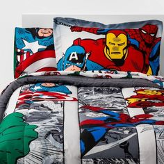 Read reviews and buy Twin Marvel Avengers Comic Cool Bed in a Bag at Target. Choose from contactless Same Day Delivery, Drive Up and more. Marvel Bedding, Marvel Bedroom, Avengers Room, Marvel Avengers Comics, Superhero Room, Kids Bedding Sets, Bed In A Bag, Twin Comforter, Fun Comics