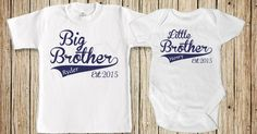 Etsy find of the day - big brother, little brother t-shirt & onesie set