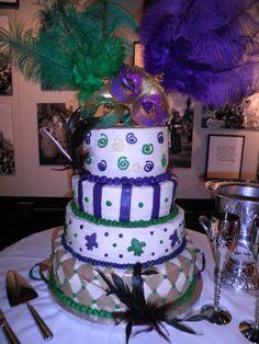 Mardi Gras Wedding Cake | Masquerade Theme - mazelmoments.com ...