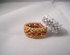 Dynamic Duo Beadwoven Rings