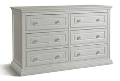 Stork Craft Concord 6 Drawer Dresser with Tufflink Assembly, White
