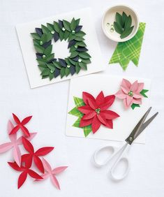 The 3-D Poinsettia Card | 49 Awesome DIY Holiday Cards