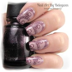 Nail Art by Belegwen: Essence Love Me, Cupcake! & China Glaze Rendezvous With You
