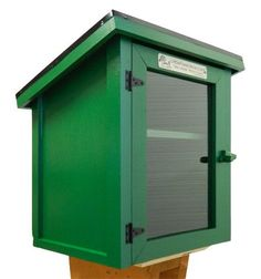 Green Two Story Shed
