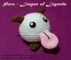 Poro League of Legends - amigurumi doll by zulemax