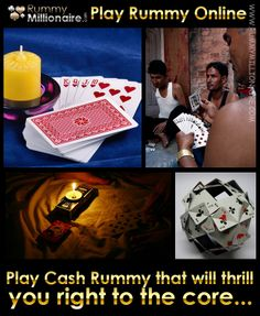 Play cash rummy games that will thrill you right to the core...